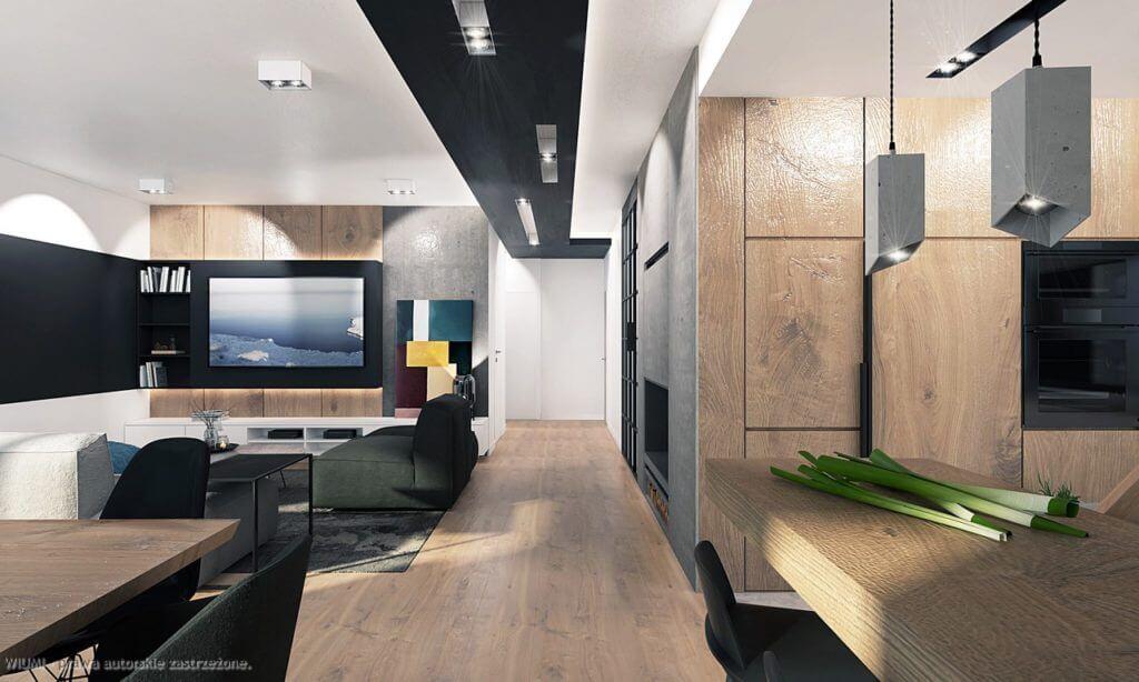 projektowanie wnętrz - dom w radomsku